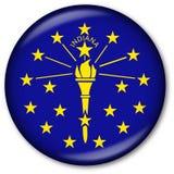 Tasto della bandierina della condizione dell'Indiana Fotografie Stock Libere da Diritti