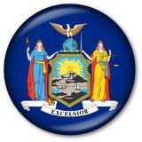 Tasto della bandierina dello Stato di New York Fotografia Stock