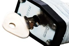 Tasto della Camera in serratura Fotografia Stock