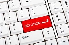 Tasto della soluzione Immagine Stock Libera da Diritti