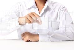 Tasto dello schermo attivabile al tatto Fotografia Stock