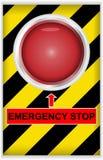 Tasto di arresto di emergenza Fotografia Stock