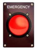 Tasto di arresto di emergenza Immagine Stock Libera da Diritti