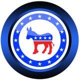 Tasto di elezioni democratiche Immagini Stock
