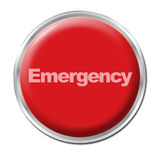 Tasto di emergenza Immagine Stock Libera da Diritti