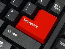 Tasto di emergenza Fotografie Stock Libere da Diritti