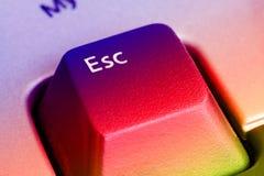 Tasto di ESC Fotografia Stock