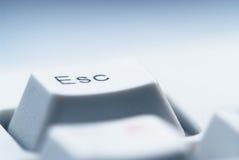 Tasto di ESC sulla tastiera di calcolatore Immagine Stock