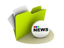 Tasto di notizie Immagini Stock