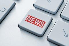 Tasto di notizie Immagini Stock Libere da Diritti