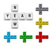Tasto di nuovo anno Fotografia Stock Libera da Diritti