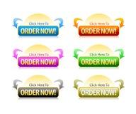 Tasto di ordine Fotografie Stock