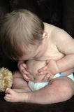 Tasto di pancia del bambino Immagini Stock Libere da Diritti