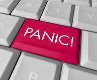 Tasto di panico sulla tastiera di calcolatore Fotografia Stock Libera da Diritti