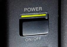 Tasto di potenza Fotografie Stock