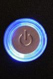 Tasto di potenza del calcolatore Fotografie Stock Libere da Diritti