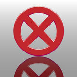 Tasto di proibizione Immagine Stock Libera da Diritti
