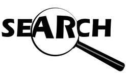 Tasto di ricerca Fotografia Stock