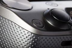 Tasto di riproduzione di film sul corpo dei dispositivi moderni del audio-video Immagine Stock