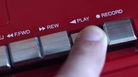 Tasto di riproduzione sul registratore video d archivio