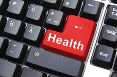 Tasto di salute Immagine Stock