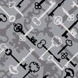 Tasto di scheletro Pattern_Black-Gray Fotografia Stock Libera da Diritti