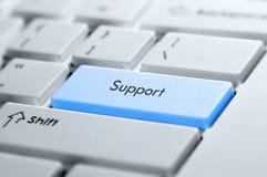 Tasto di sostegno su una tastiera Immagini Stock Libere da Diritti
