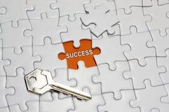 Tasto di successo Immagini Stock Libere da Diritti