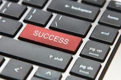 Tasto di successo su una tastiera Fotografia Stock
