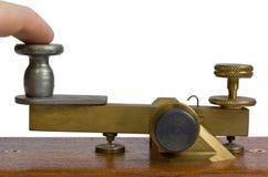 Tasto di telegrafo Immagini Stock Libere da Diritti