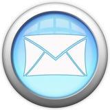 Tasto di vetro blu del email Immagini Stock