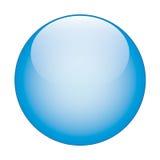 Tasto di vetro di Web di vettore blu illustrazione di stock