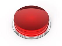 Tasto di vetro rosso Fotografie Stock Libere da Diritti