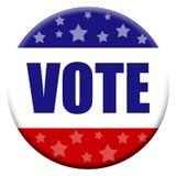 Tasto di voto Fotografie Stock