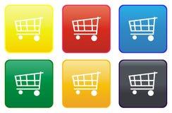 Tasto di Web del carrello di acquisto Immagine Stock Libera da Diritti