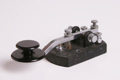Tasto diritto di codice Morse Fotografia Stock Libera da Diritti