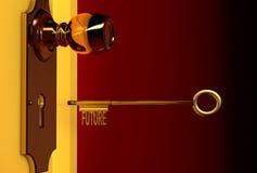 Tasto dorato Fotografia Stock