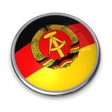 Tasto GDR/Germania orientale della bandiera Fotografia Stock Libera da Diritti