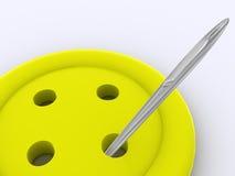 Tasto giallo. 3d Immagini Stock Libere da Diritti