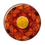 Tasto giallo di Grunge Fotografia Stock