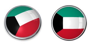 Tasto Kuweit della bandiera Fotografia Stock