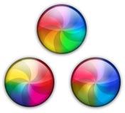 Tasto lucido di Web del Rainbow Fotografia Stock Libera da Diritti