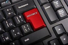 Tasto a macroistruzione di divorzio Fotografia Stock Libera da Diritti