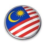 Tasto Malesia della bandiera Fotografia Stock