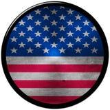 Tasto metallico degli Stati Uniti Fotografia Stock Libera da Diritti
