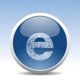 Tasto moderno di Web Fotografia Stock