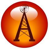 Tasto o icona della torretta radiofonica Fotografia Stock Libera da Diritti