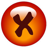 Tasto o icona di Web di x o di no Fotografie Stock