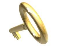 Tasto in oro (3d) illustrazione di stock