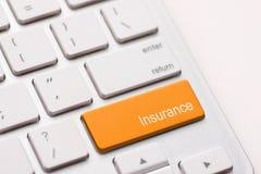 Tasto per assicurazione Immagine Stock Libera da Diritti